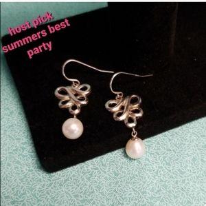 Honora Sterling silver pearl earrings NWT